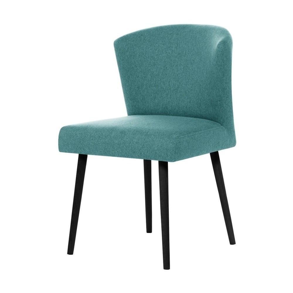 Světle modrá jídelní židle s černými nohami My Pop Design Richter