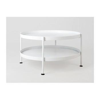 Masă de cafea Custom Form Hanna, ⌀ 60 cm, alb de la Custom Form