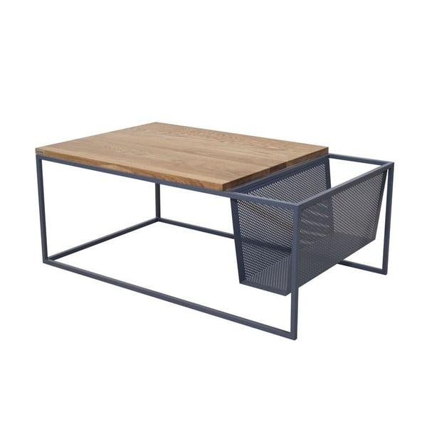 Odkládací stolek se stojanem na noviny Performa Graphite