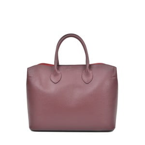 Vínově fialová kožená kabelka Isabella Rhea Manuel