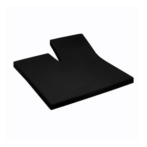 Prostěradlo Split Black, 160x200 cm