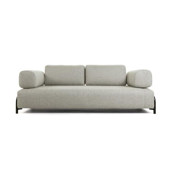 Canapea cu 3 locuri și cotiere La Forma Compo, bej