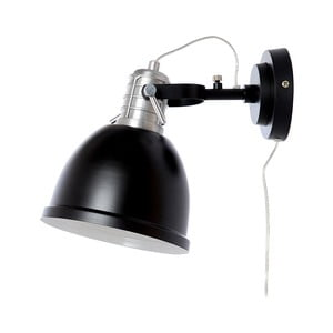 Černé nástěnné svítidlo Look4Lamps Casdock