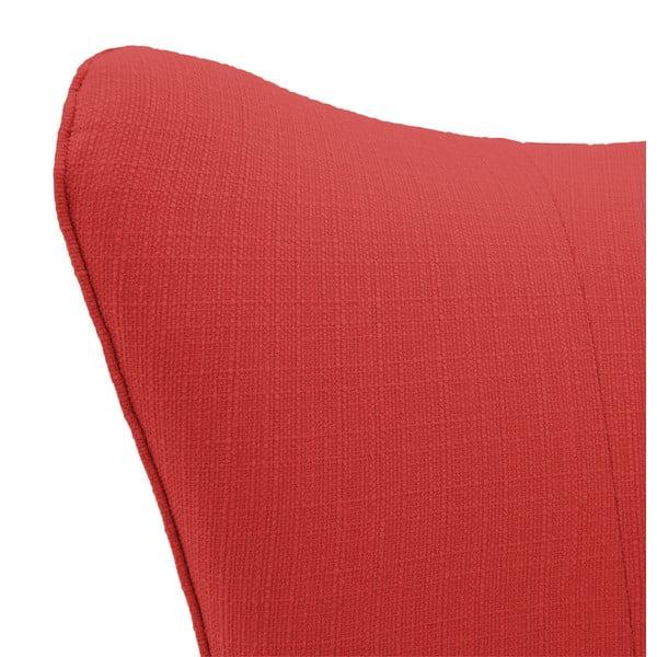 Červené křeslo se světlými nohami Vivonita Sandy