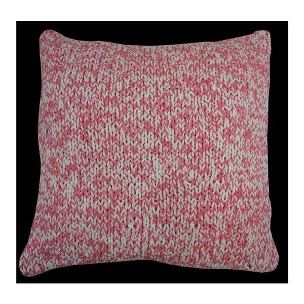 Polštář Double Knit Pink, 45x45 cm