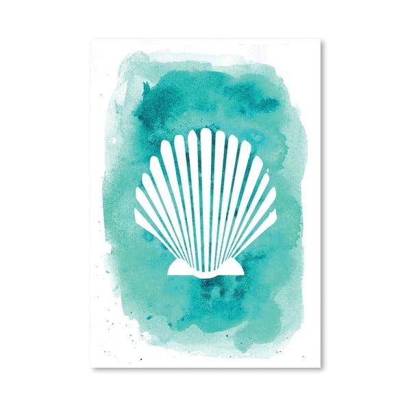 Plakát Watercolor Aqua Shell