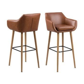Set 2 scaune pentru bar Actona Nora, maro de la Actona