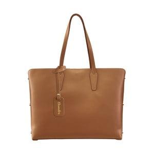 Hnědá kožená kabelka Maison Bag Nola