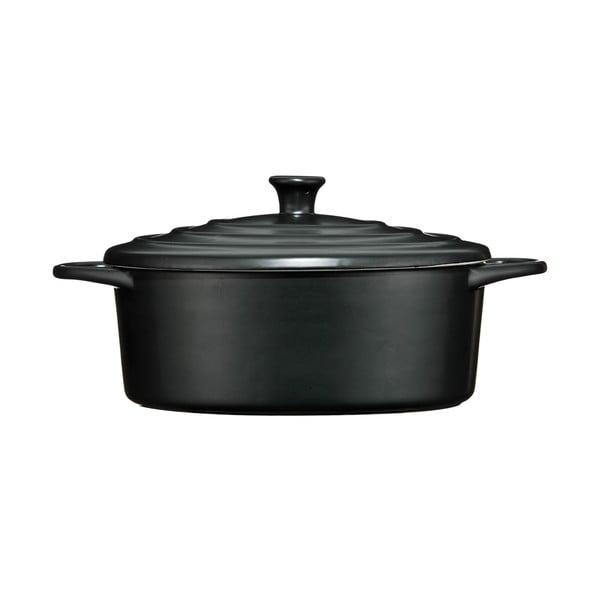 Oală din ceramică Premier Housewares, 2,5 l, negru