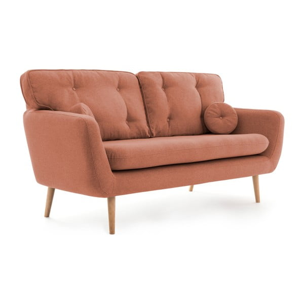 Łososiowa sofa 3-osobowa z poduszką VIVONITA Malva