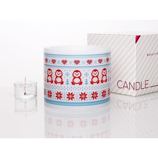 Kruhový svícen na čajovou svíčku Winter