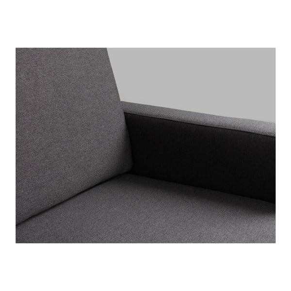 Antracitově šedá třímístná pohovka Custom Form Scandic
