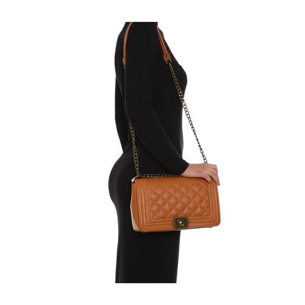 Kožená kabelka Anna Luchini 2064 Cognac