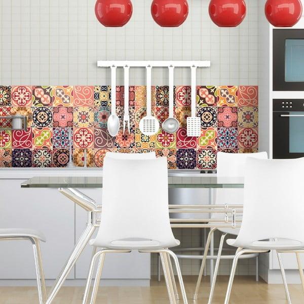 Sada 30 dekorativních samolepek na stěnu Ambiance La Valette, 15 x 15 cm