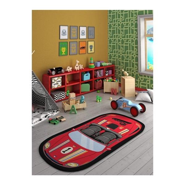 Speed Racer Red gyerekszőnyeg, 100 x 200 cm
