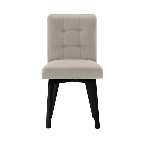 Béžová jídelní židle sčernými nohami My Pop Design Haring