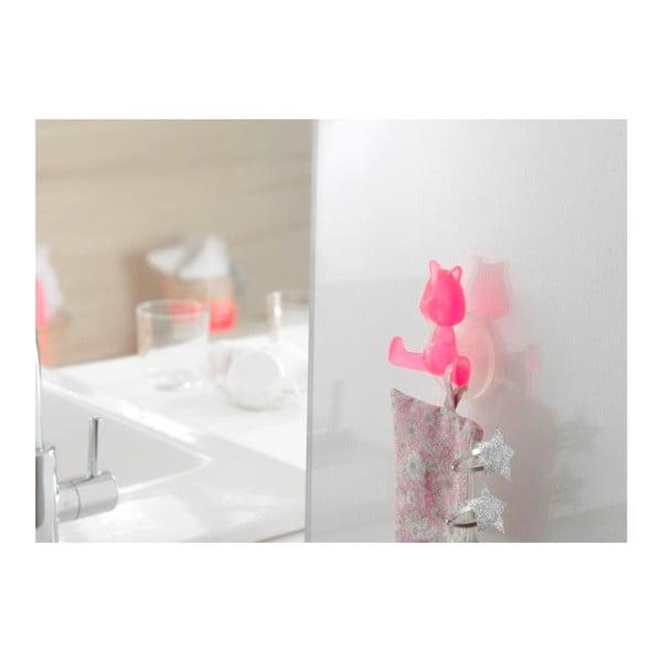 Cârlig cu ventuză Compactor Cat, roz