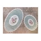 Set 2 covorașe de baie Alessia Inci Oval Mint