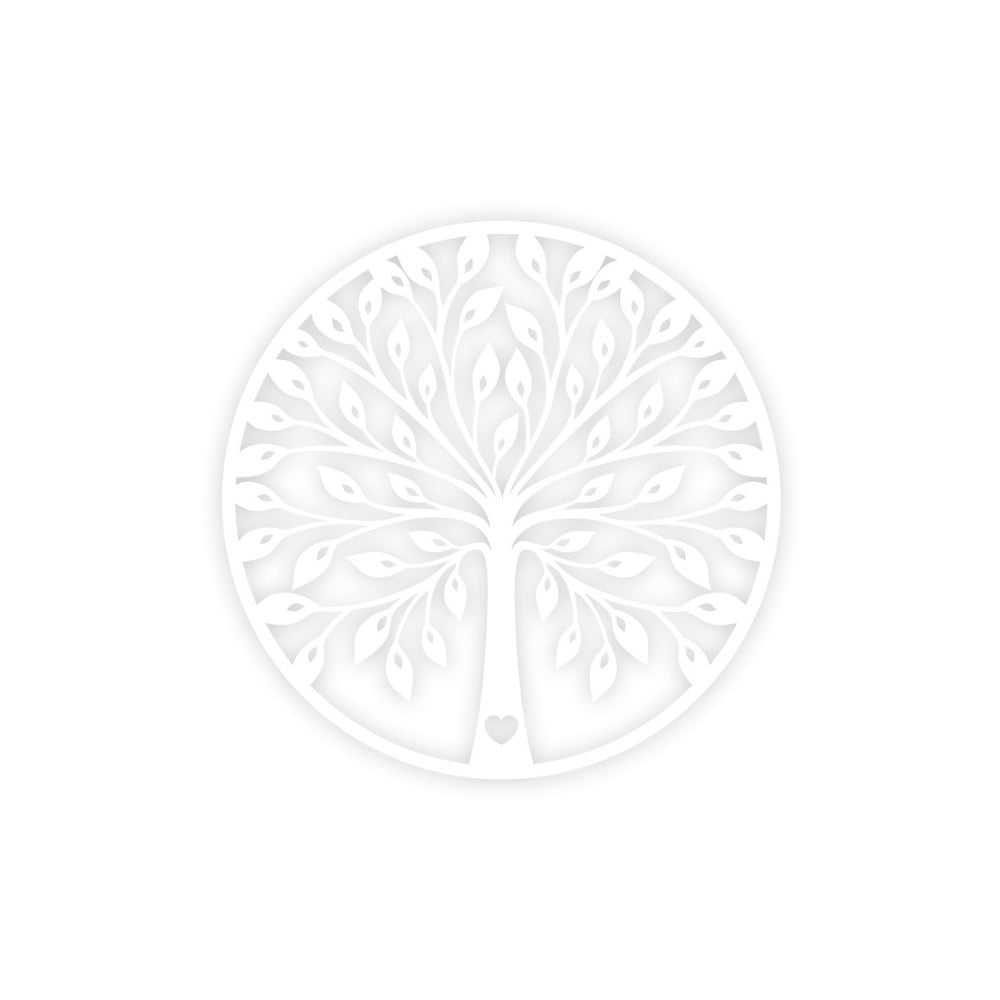 Bílá nástěnná dekorace Tree
