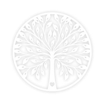Decorațiune de perete Tree, alb imagine