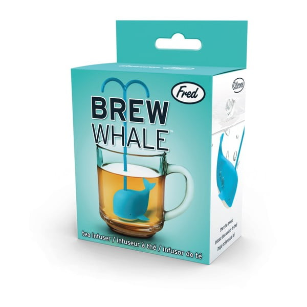 Modré sítko na čaj ve tvaru velryby Fred & Friends Brew Whale