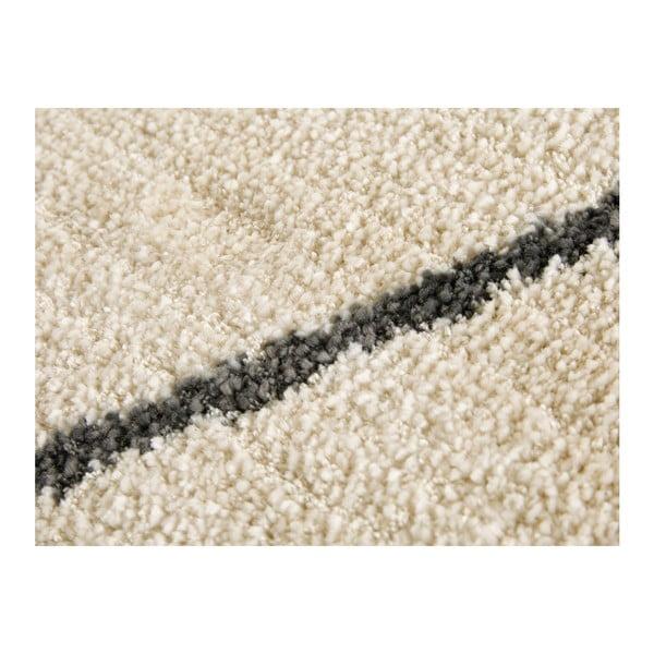 Krémovo-šedý koberec Elle Decor Glow Beaune, 80 x 150 cm
