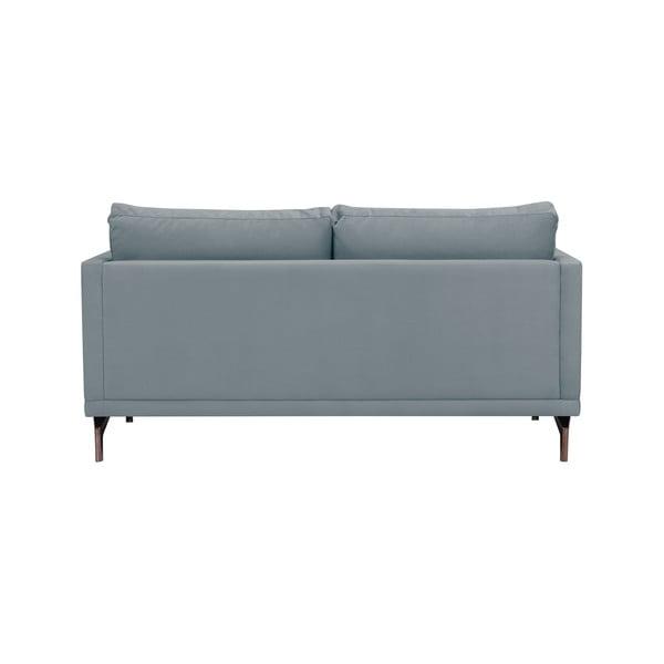 Šedá dvojmístná pohovka s podnožím ve zlaté barvě Windsor & Co Sofas Jupiter