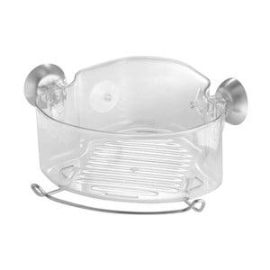 Transparentní rohový samodržící košík iDesign Soap Shower