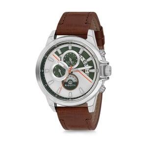 Pánské hodinky s hnědým koženým řemínkem Bigotti Milano Corso