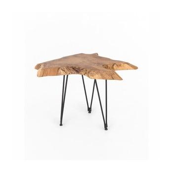 Măsuță de cafea cu blat din lemn de tec WOOX LIVING Natura, 50 x 50 cm imagine