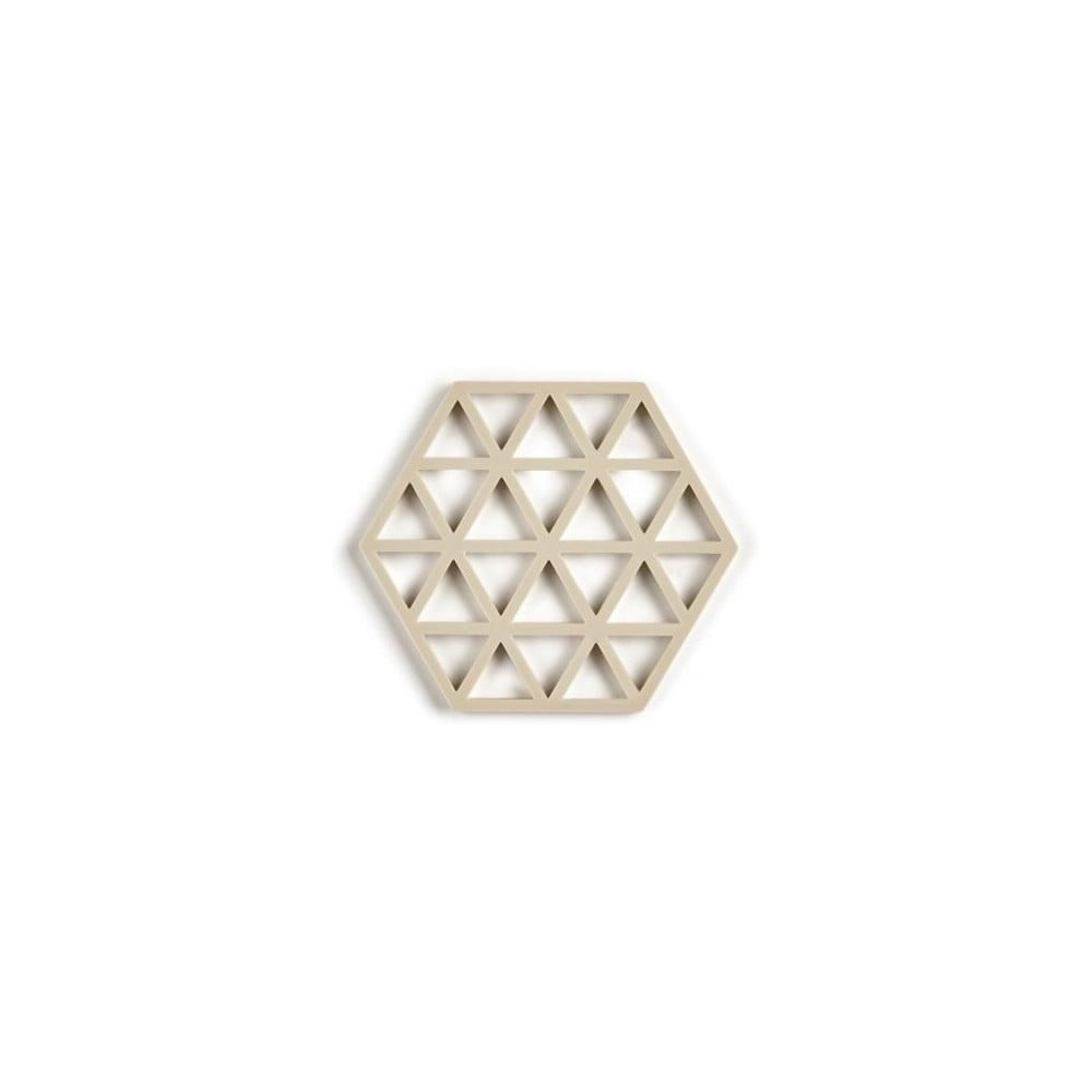 Béžová silikonová podložka pod hrnec Zone Triangles