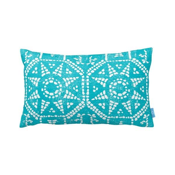 Tyrkysovobílý polštář Homemania Blue Sun, 35x60cm
