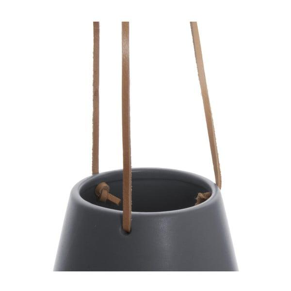 Šedý závěsný květináč PT LIVING Skittle, ⌀ 12,2cm