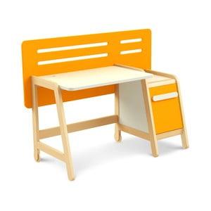 Oranžový pracovní stůl Timoore Simple