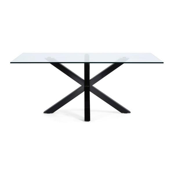 Jídelní stůl s černým podnožím La Forma Arya,délka200cm