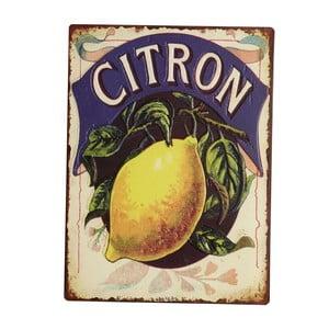 Cedule Blue Lemon, 35x26 cm