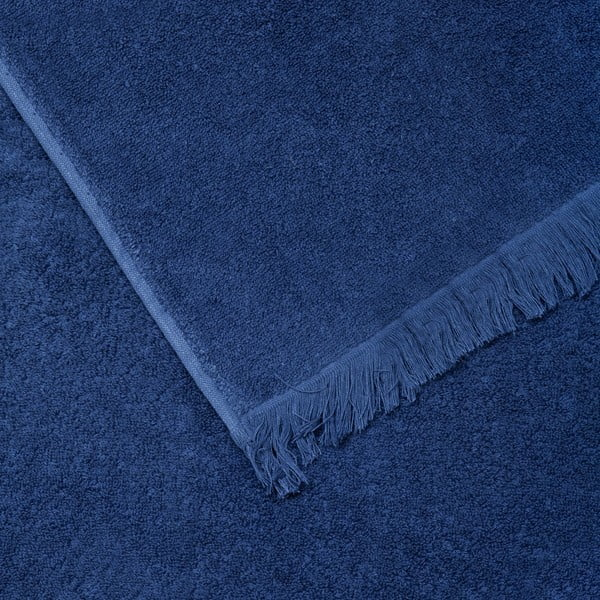 Sada 2 modrých bavlněných osušek Casa Di Bassi Bath, 70x140cm
