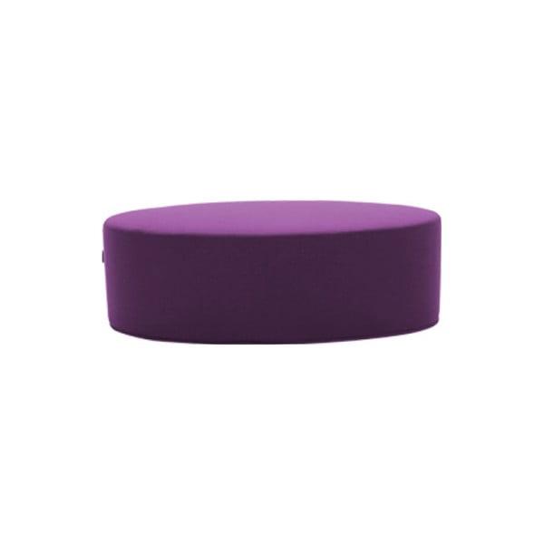 Tmavý fialový puf Softline Bon-Bon Vision Purple, délka 120 cm