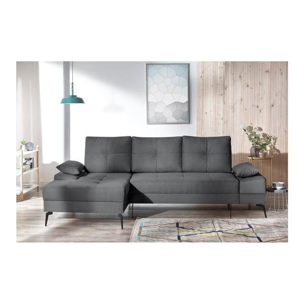 SVEN III sötétszürke kinyitható kanapé, bal oldali kivitel - Bobochic Paris