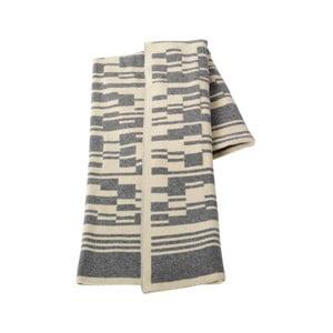 Vlněná deka 130x160 cm, šedá