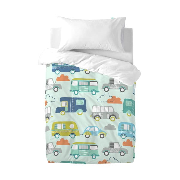 Lenjerie de pat din bumbac pentru copii Moshi Moshi Holidays, 100 x 120 cm