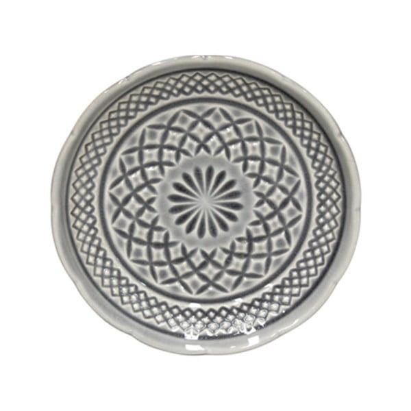 Šedý kameninový dezertní talíř Costa Nova Cristal, ⌀ 15 cm