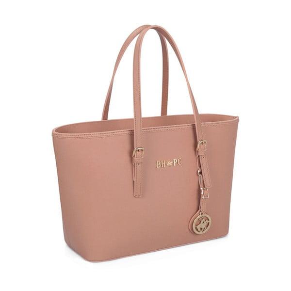 Pudrově růžová kabelka Beverly Hills Polo Club Anne