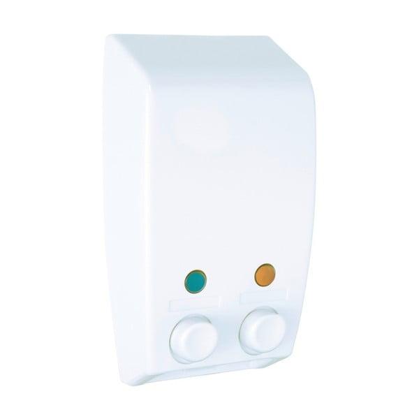Biały ścienny dozownik na mydło Wenko Varese Double Chamber White