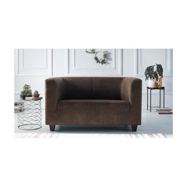 Set canapea cu 2 locuri și 2 fotolii Bobochic Paris Django Preston, maro deschis