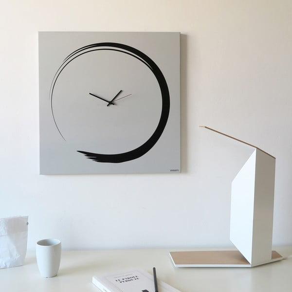 Nástěnné hodiny dESIGNoBJECT.it Enso Clock White,50x50cm