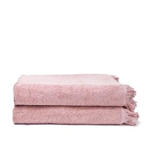 Set 2 prosoape din bumbac Casa Di Bassi Bath, 100 x 160 cm, roz