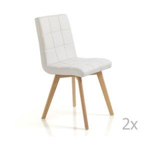 Sada 2 bílých jídelních židlí Tomasucci New Kemi Beth