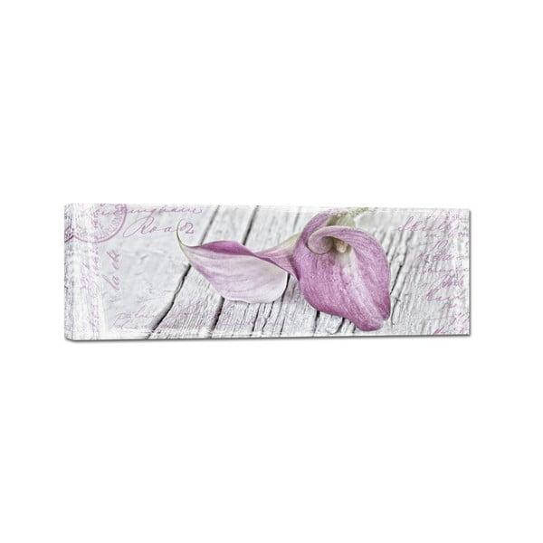 Canvas Blume fali kép, 45 x 140 cm - Styler
