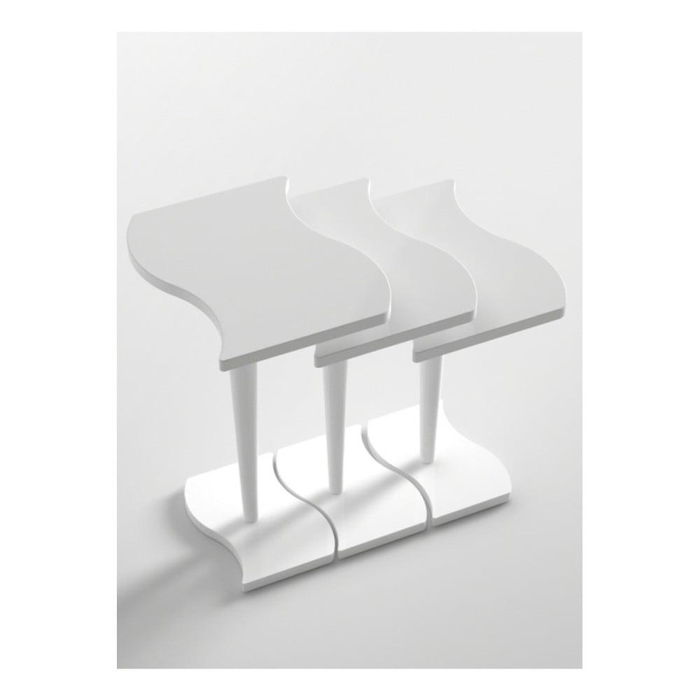 Sada 3 bílých konferenčních stolků Monte Studio
